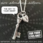 THE KEY TO YOUR HEART – 925 Sterling Silver