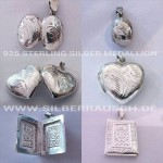 "925 Silber Medallion – ""romantic collection"""