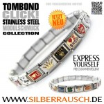 "TOMBOND CLICK! – ""express yourself"" – EDELSTAHLARMBAND"