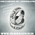 EDESTAHLRING mit AUSSENGRAVUR | Express yourself!