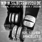 ARMREIFEN IN 925STERLING SILVER | BIKER TRIBAL TATTOO STYLE