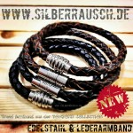 """Leder & Edelstahl"" Armbänder Tombond Collection"